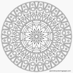 Floral mandala detailed Coloring Pages for Adults - Bing Images