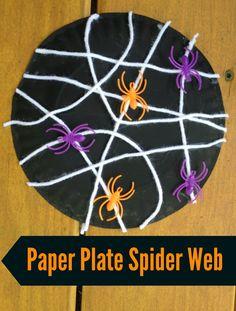 Halloween Kids' Craft: Paper Plate Spider Web