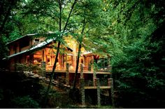 YES PLEASE! Whether it's short-term or long-term, I want to live in a log cabin in the woods.