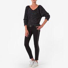Jean slim motif jacquard, Pantalons et jeans One Step