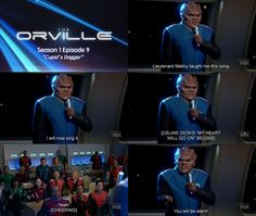 "The Orville - Season 1 Episode 9 ""Cupid's Dagger"" Sci Fi Series, Comedy Series, Foxs News, Sci Fi Comedy, Seth Macfarlane, Films, Movies, Season 1, Star Trek"