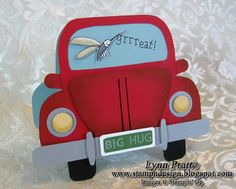 Stamp-n-Design: VW Bug - Bad Day Card Inside: Some days you're the windshield, some days you're the bug. Hope tomorrow is better!