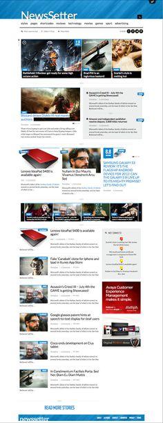 NewsSetter Responsive WordPress Tech Review Theme