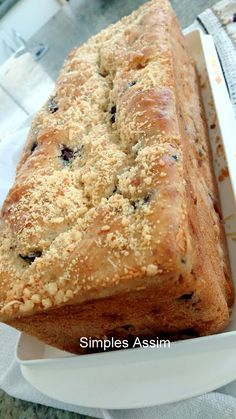 48 ideas for cake blueberry chocolate baking Bakery Recipes, Dessert Recipes, Desserts, Easy Cooking, Cooking Recipes, Cake Decorating For Kids, Blueberry Chocolate, Cake Chocolate, Lemon Bread