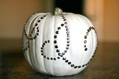 Thumbtack #studded white #pumpkin #DIY