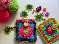 Crochet pouches, inspiration.