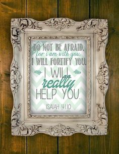 Wall art New World Translation Isaiah 4110 by PrintablesMothership, $10.00