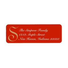 Elegant Return Address Label