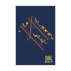 DAL Poster 08Left / airport prints