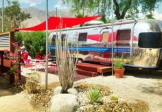 Go vintage in the heart of Anza-Borrego State Park at this recently renovated hotel and RV court, offering classic hotel rooms and Airstream rentals for up to four. The Destination Almost completely surrounded. Vintage Caravans, Vintage Travel Trailers, Vintage Airstream, Retro Trailers, Camp Trailers, Vintage Campers, Rv Parks, State Parks, Airstream Rental