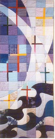 This quilted baptism banner was designed for St. Peter United Church of Christ.