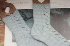 Will O' The Wisp socks are a cozy and comfy sock pattern to knit. A very easy lace that is both wispy and relaxing. Before you know it your socks will be done. Its easy to memorize which is always nice. There is a lovely short rounded toe perfect for those who do not like the kitchener.
