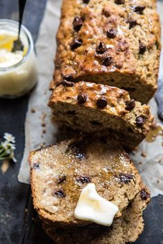 Chocolate Chip Olive Oil Zucchini Banana Bread - you're going to love this healthier banana bread, so moist and delicious! @halfbakedharvest.com