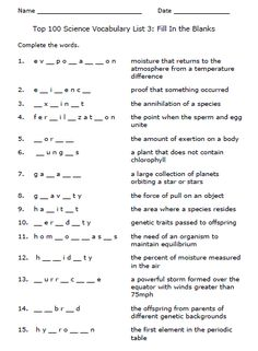 Looking for a Science Worksheets Printable. We have Science Worksheets Printable and the other about Benderos Printable Math it free. Science Vocabulary, Vocabulary List, Vocabulary Words, Printable Math Worksheets, Science Worksheets, Printables, Good Company, Design Reference, Phonics
