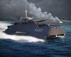 Catamaran Battleship by khesm on DeviantArt