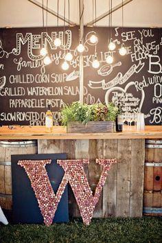 <3 <3 ADD diy www.customweddingprintables.com ... Impressive Non-Traditional Wedding Reception Ideas