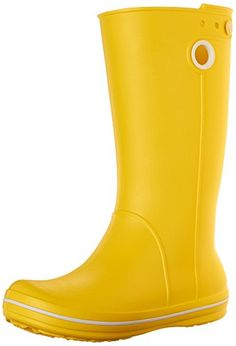 SALE PRICE  $39.99 - Pull-on rain boot featuring adjustable tab and easy-on finger holds at top shaft Logoed counter