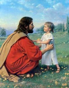 Come Unto Me by Kathy Lawrence - Jesus with child