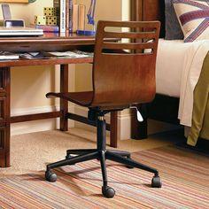 Maxwell Swivel Desk Chair in Rustic Cherry