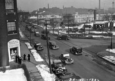 Traffic Intersection at Diversey Parkway and Logan (image :: IDOT Chicago Traffic Photographs (University of Illinois at Chicago) Chicago Street, Chicago River, Nostalgic Images, Chicago Neighborhoods, Chicago Photos, My Kind Of Town, Old Photos, Illinois, The Neighbourhood