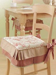 Dining Chairs Cushions With Ties Kitchen Chair Covers Pads Seat For