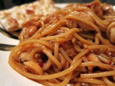 Kung Pao Chicken Spaghetti  http://www.plainchicken.com/search/label/favorites