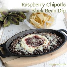Raspberry Chipotle Black Bean Dip Recipe ~ Just like you get at So Long Saloon