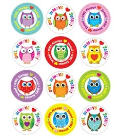 Owl stickers for crafts.