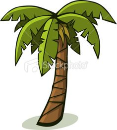 Cartoon Palm Tree Royalty Free Stock Vector Art Illustration