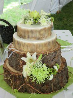 I like the tree trunk idea.
