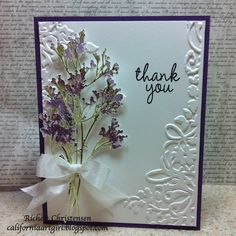 Design team member Richele Christensen shared a great tutorial on our blog for this lovely card that is quick and easy thanks to Stamp2Cut!  Find it on our blog here: http://sizzixblog.blogspot.com/2012/07/quick-thank-you-cards.html