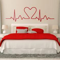 Vinilos Decorativos: Electrocardiograma Corazón 0