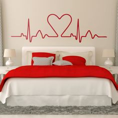 Vinilos Decorativos: Electrocardiograma Corazón perfecto para decorar comercio en San Valentín #sanvalentin #valentin #decoracion #vinilo #pared #escaparate #tienda #deco #TeleAdhesivo