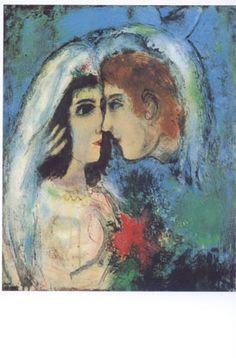 Design: Marc Chagall. Titel: Face to Face- Meer kaarten bij www.postersquare.com