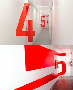 Pin on typographic murals Office Signage, Wayfinding Signage, Signage Design, Directional Signage, Environmental Graphic Design, Environmental Graphics, Typographie Inspiration, Office Interior Design, Paint Designs
