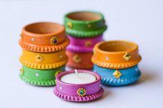 Handcrafted Diyas Diwali Diya Wedding Decor Wedding Favor Tealight Holder Tealight Decorative Candle Wedding gift Diwali gift Piece Set) Handcrafted Diwali Diyas/tea lights to enlighten your home and a perfect festival gift for your friends! Water Candle, Tea Light Candles, Tea Lights, Diwali Diya, Diwali Craft, Diya Designs, Acrylic Rangoli, Diwali Lights, Diy Diwali Decorations