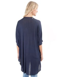 93afe6cb64 Blusa Lucy in The Sky Maxi Azul Marinho - Marca Lucy in The Sky