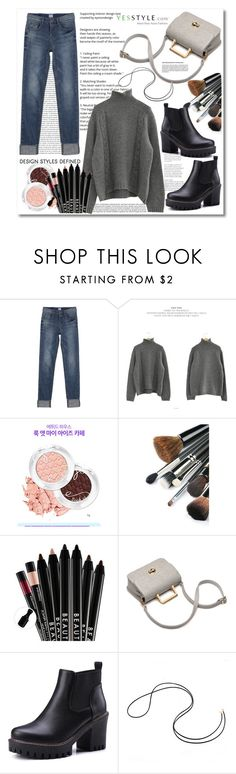 """Yesstyle 1..."" by cindy88 ❤ liked on Polyvore featuring Oris, Chlo.D.Manon, Beauty, knitwear and yesstyle"
