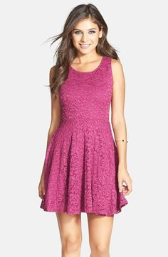 Soprano Lace Skater Dress (Juniors) available at #Nordstrom