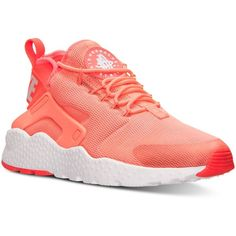 Nike Women's Air Huarache Run Ultra Running Sneakers from Finish Line ($115) ❤ liked on Polyvore featuring shoes, nike shoes, nike footwear and nike