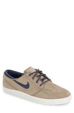 NIKE 'Lunar - Stefan Janoski Sb' Skate Shoe (Men). #nike #shoes #leather #platform #round toe #lining