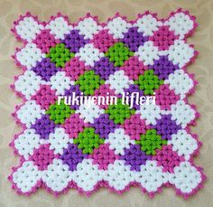 Lif Puff Stitch Crochet, Filet Crochet, Crochet Stitches, Crochet Patterns, Bargello, Posts, Zig Zag, Blanket, Knitting