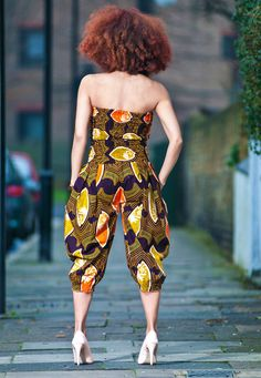 African print jumpsuit also The Hair! African Inspired Clothing, African Print Fashion, Ethnic Fashion, Ankara Fashion, African Prints, African Attire, African Wear, African Women, African Dress