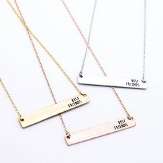 I want this bff necklace for three! BUCKETLIST XX