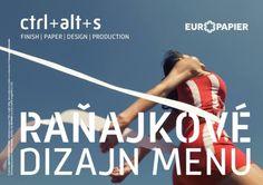 Raňajkové Dizajn MENU: Finish PAPER Design Production