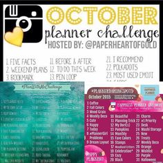 Planner challenges I'll be doing this month!