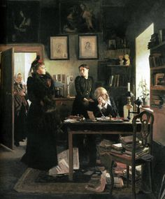 "books0977: Two Sisters (1893). Vladimir Makovsky (Russian, 1846-1920). In the eighties, during the time of Russian ""democratic"" painting, M..."