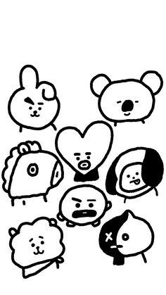BTS Jimin's CONNECT BTS exhibition certification shots are released . Outline Drawings, Bts Drawings, Simple Doodles, Cute Doodles, Fanart Bts, Bts Tattoos, Bts Shirt, Kpop, Cute Cartoon Wallpapers