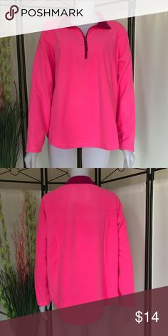 BRUSHED FLEECE PULLOVER BRAND NEW Made For Life Brushed Fleece Pullover Brand new with tags attached. Size: XL Color: Pink Brilliant Fuschia Long Sleeve This 1/4-zip fleece is perfect for throwing on in brisker weather when you want to stay out and active. Made For Life Tops