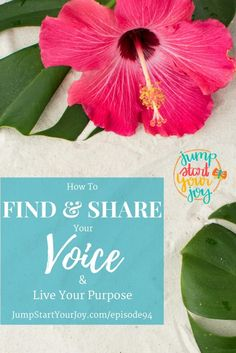 Discover 6 ways to Find and Share Your Voice, Live Your Purpose with life coach and podcasting host Paula Jenkins. Save for later and click to listen now. www.jumpstartyourjoy.com/episode94